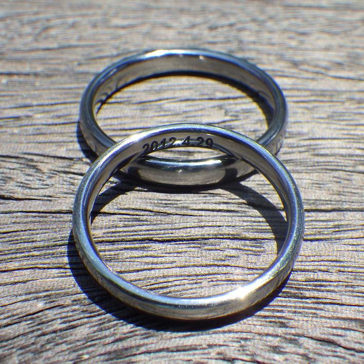 最高の素材×シンプルなデザイン・ハフニウムの結婚指輪 Hafnium Rings