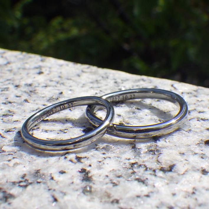 製品では味わえない喜び・ハフニウムのオーダーメイドリング Hafnium Rings