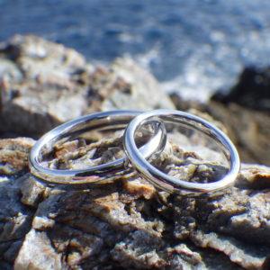 宇宙でたった一組!究極のイリジウムの結婚指輪 Iridium Rings