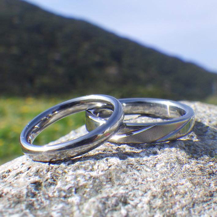 超ハイスペックなハフニウムの結婚指輪 Hafnium Rings