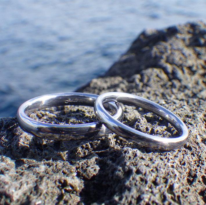 魅力的な物性の希少金属・タンタルの結婚指輪 Tantalum Rings
