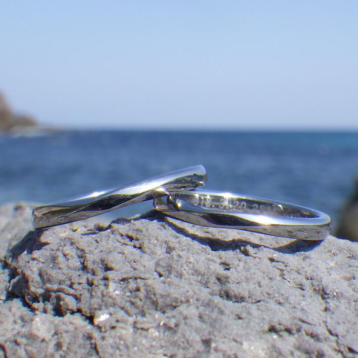 はずす必要が無い設計・ハフニウムの結婚指輪 Hafnium Rings