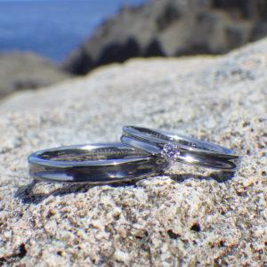 魅力を高めてくれるダイヤモンド・ハフニウムの結婚指輪 Hafnium Rings