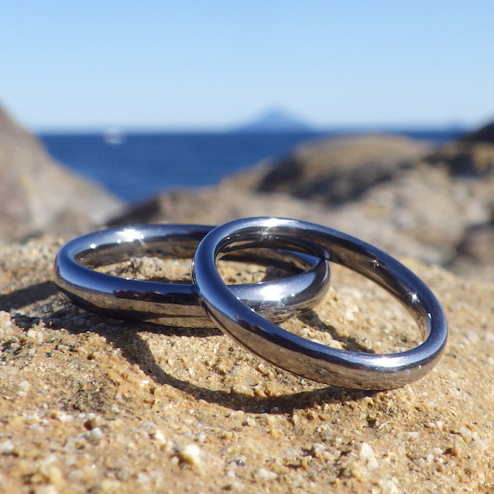 最高の完成度!タンタルの結婚指輪 Tantalum Rings