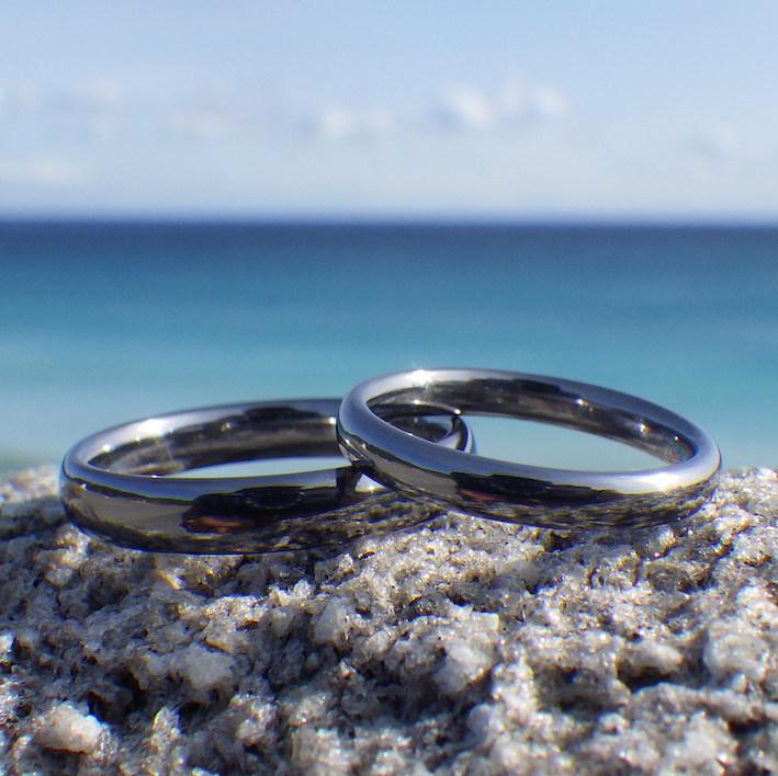 良いものをずっと大事に末永く・タンタルの結婚指輪 Tantalum Rings
