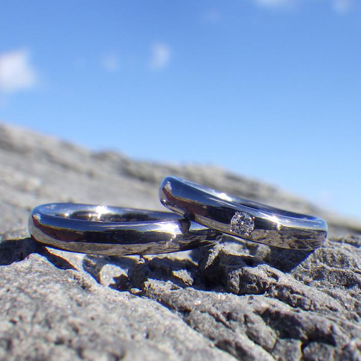 安心安全で誇らしい!タンタルの結婚指輪 Tantalum Rings