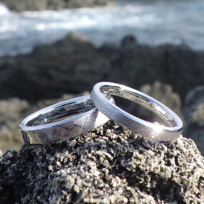 制作工程を見て楽しめる・オーダーメイドのイリジウムリング Iridium Rings