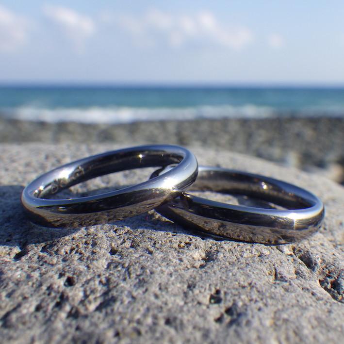 美しく頑丈なタンタルの結婚指輪 Tantalum Rings
