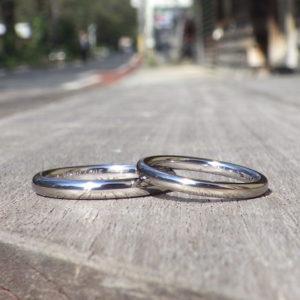 相反するような性質の組み合わせ・タンタルの結婚指輪 Tantalum Rings