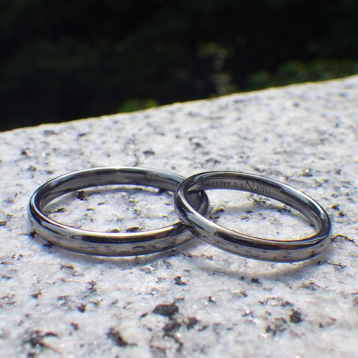 アトピー・敏感肌・アレルギーでも安心!タンタルの結婚指輪 Tantalum Rings