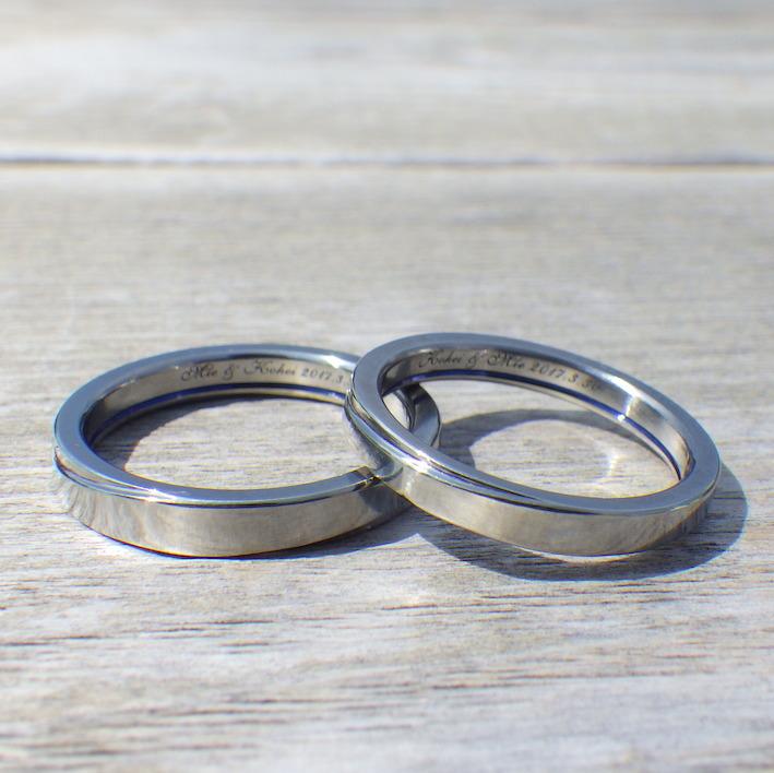 世界でたった一組のハフニウムの結婚指輪 Hafnium Rings