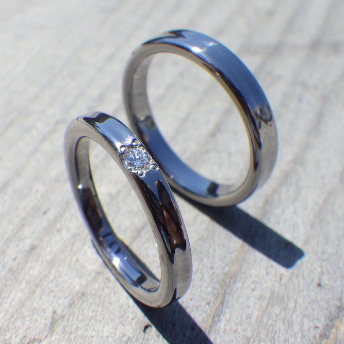 メールオーダーでご理想にぴったり!タンタルの結婚指輪 Tantalum Rings