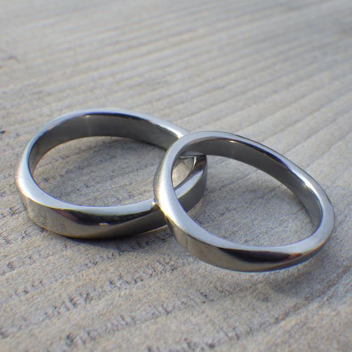 金属アレルギーの原因にならないハフニウムの結婚指輪 Hafnium Rings