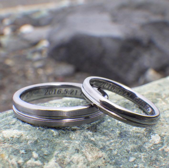 こだわりが詰まったセンターライン・タンタルの結婚指輪 Tantalum Rings