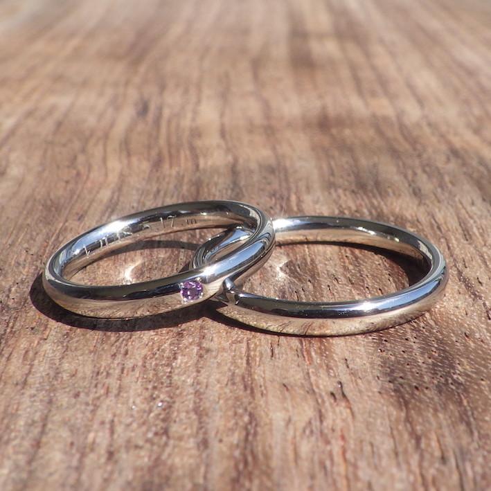 作り手に直接オーダーできる特別感!ハフニウムの結婚指輪 Hafnium Rings