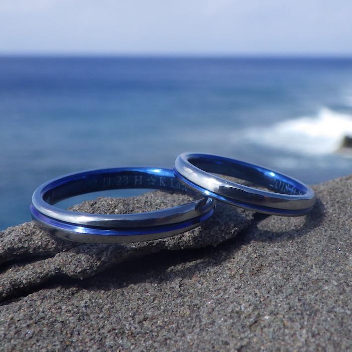 金属アレルギーでも安心の美しい金属・ハフニウムの結婚指輪 Hafnium Rings