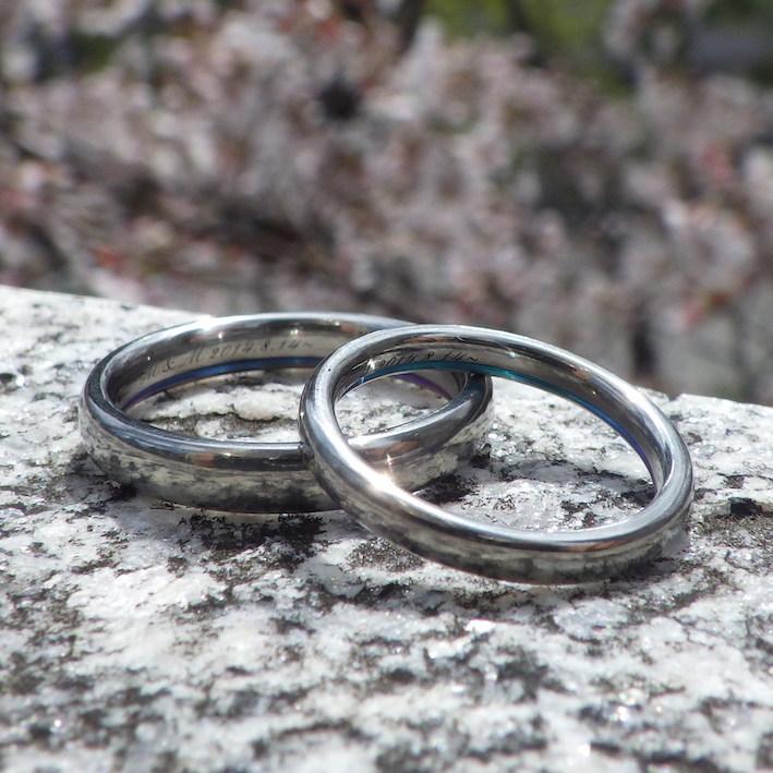 金属アレルギー・アトピーの方にも安心してつけて頂けるジルコニウムの結婚指輪 Zirconium Rings