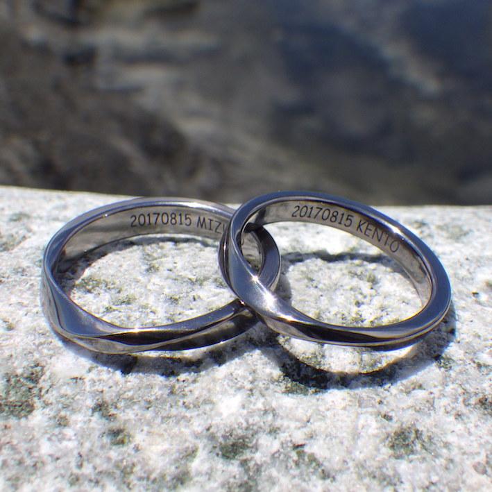 非常に珍しい希少金属・タンタルの結婚指輪 Tantalum Rings