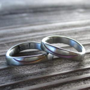世界でたった1つ・ジルコニウムの結婚指輪 Zirconium Rings