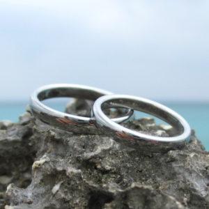 なめらかな着け心地が一生続く!ハフニウムの結婚指輪 Hafnium Rings