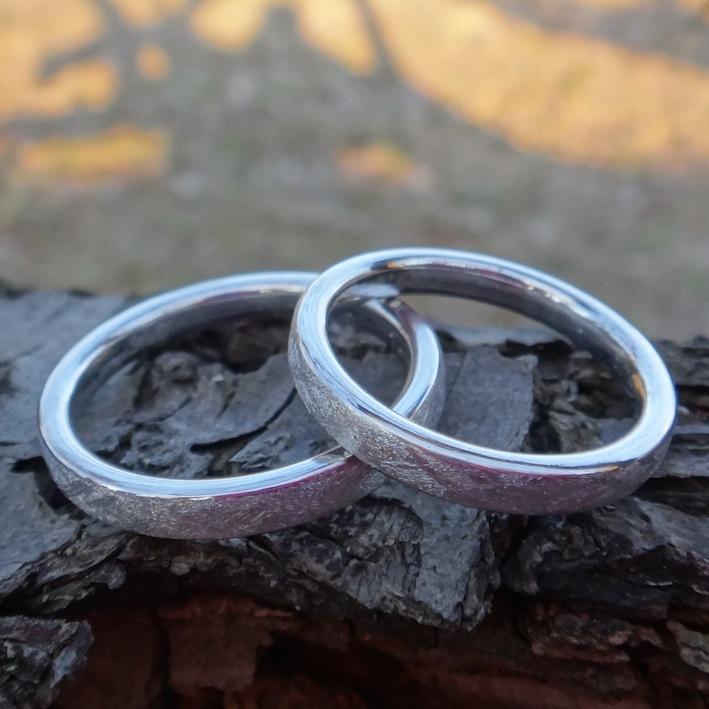 宇宙の他のどこにもない!イリジウムの結婚指輪 Iridium Rings