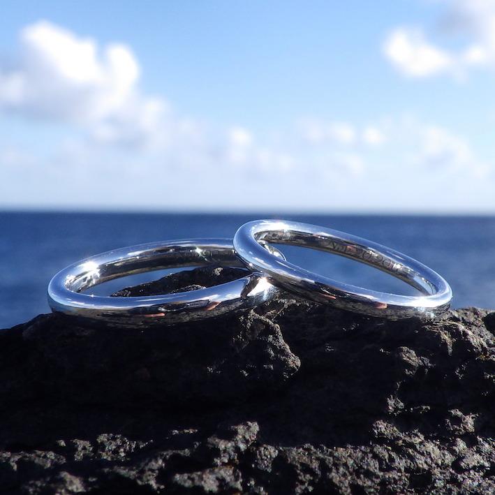 世界で唯一のイリジウムのオーダーメイド結婚指輪 Iridium Rings
