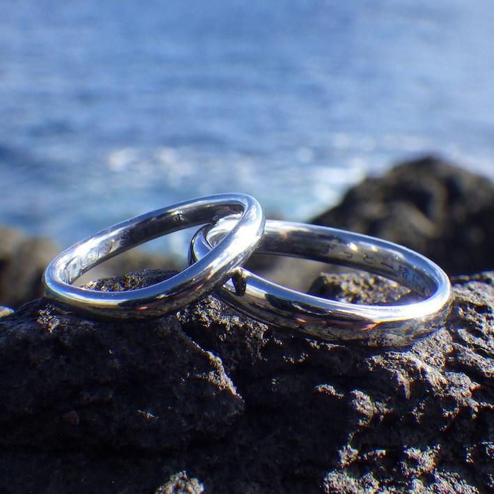 金属アレルギーでも着けられる!ハフニウムの結婚指輪 Hafnium Rings