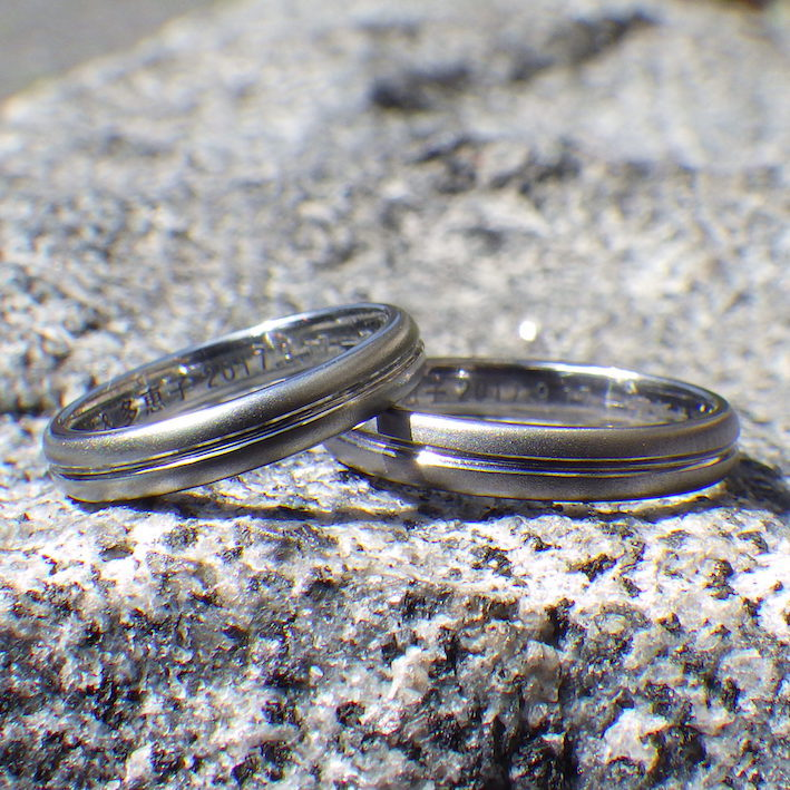 素材からオーダーできる!オリジナルの結婚指輪 Tantalum & Hafnium Rings