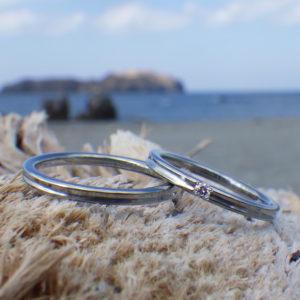 アトピーでも安心!素材と形状に配慮したハフニウムの結婚指輪 Hafnium Ring