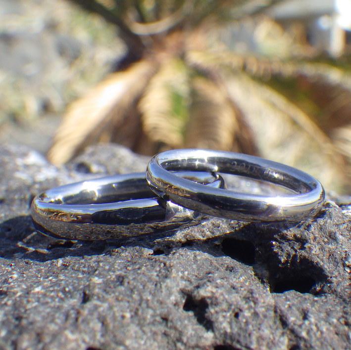 安全で堅牢な希少金属タンタルのオーダーメイドリング Tantalum Rings