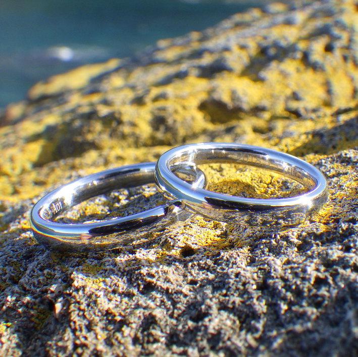 宇宙で一番希少な金属・イリジウムの結婚指輪 Iridium Rings