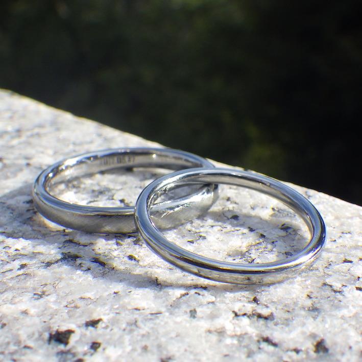 鍛造ハフニウムの指輪を生み出す工夫・ハフニウムの結婚指輪 Hafnium Rings