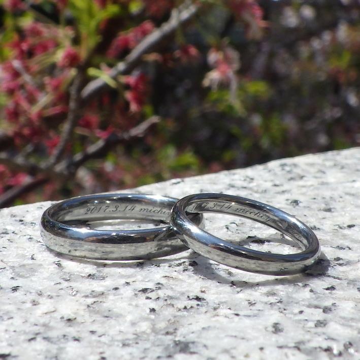 金属アレルギーやアトピーでも着けられるハフニウムの結婚指輪 Hafnium Rings