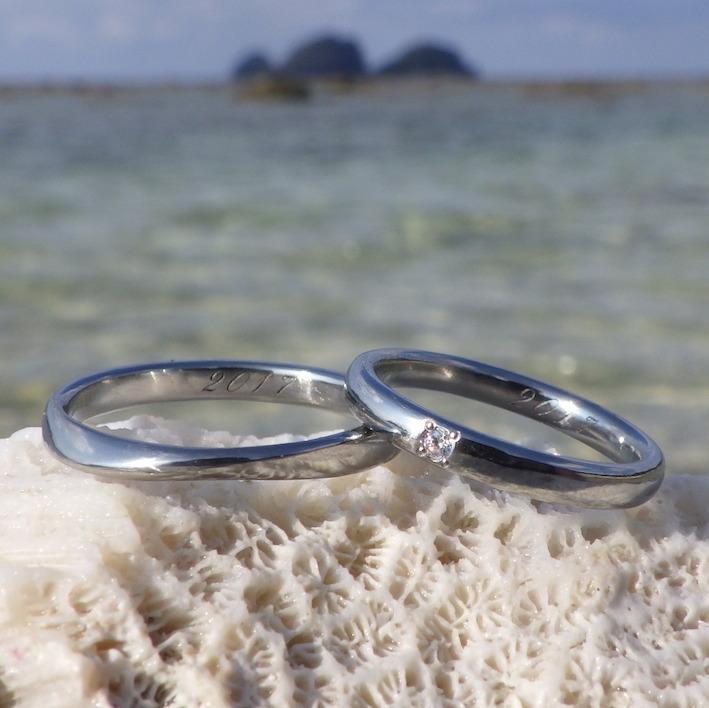 制作のストーリーもなんだか嬉しい!ハフニウムの結婚指輪 Hafnium Rings