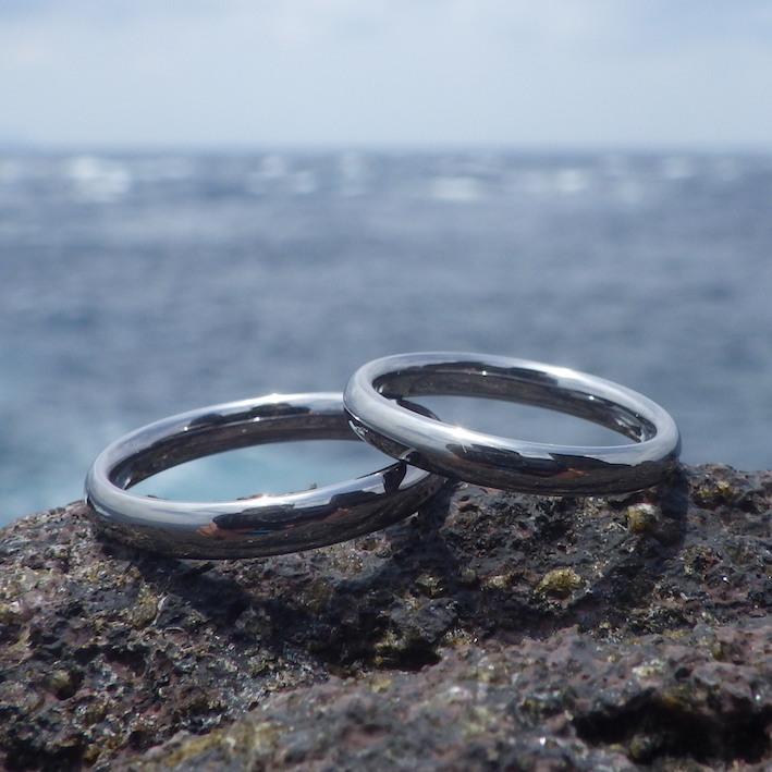 究極の着け心地と安全性・タンタルの結婚指輪 Tantalum Rings
