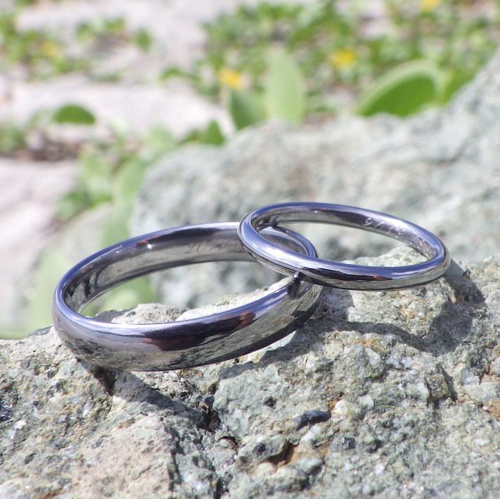 16年蓄積した鍛造技術と研磨技術の粋・タンタルの結婚指輪 Tantalum Rings