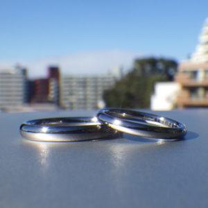 一番人気!着け心地の良いタンタルの結婚指輪 Tantalum Rings
