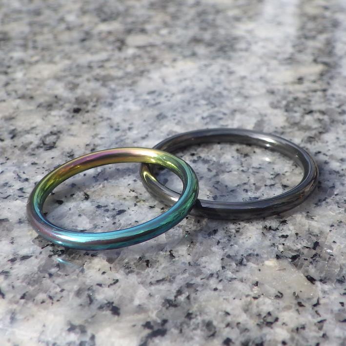 鮮やか!ジルコニウムのセミオーダーリング Zirconium Rings