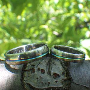 天体軌道のデザイン・ジルコニウムの結婚指輪 Zirconium Rings