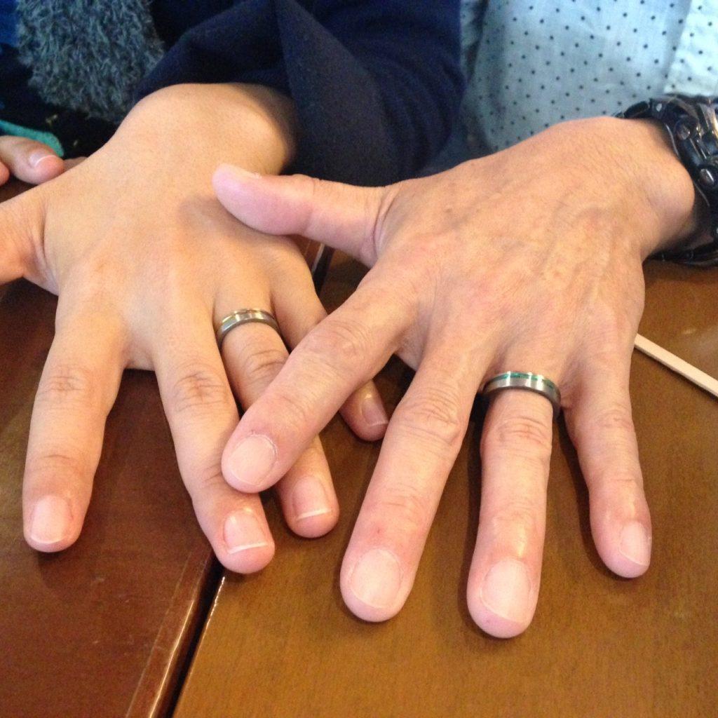 ジルコニウムの結婚指輪をご注文のお客様