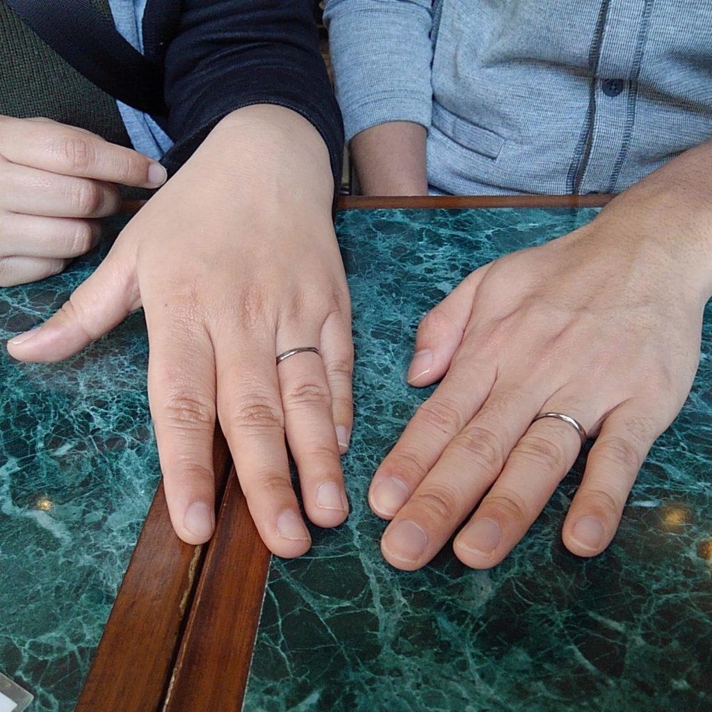 ハフニウムの指輪をご注文のお客様
