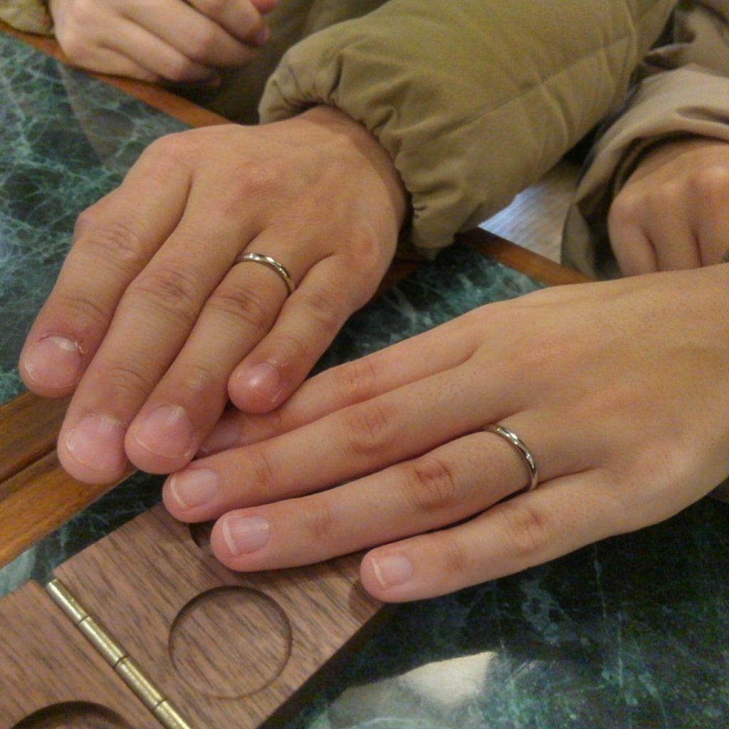 世界で唯一のイリジウムのオーダーメイド結婚指輪