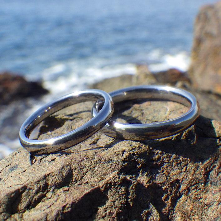 大人気!究極の着け心地と優しさ・タンタルの結婚指輪 Tantalum Rings