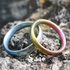 ジルコニウムの面白い性質・グラデーションカラーの結婚指輪 Zirconium Rings