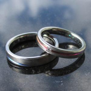 グラデーションが美しいジルコニウムの結婚指輪 Zirconium Rings