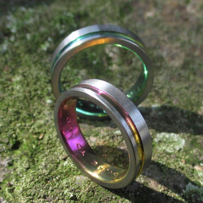 金属アレルギーにならないジルコニウムの結婚指輪 Zirconium Rings
