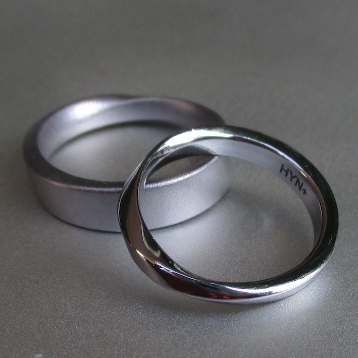 金属アレルギーにならないタンタル素材の丈夫で安心な結婚指輪 Tantalum Rings