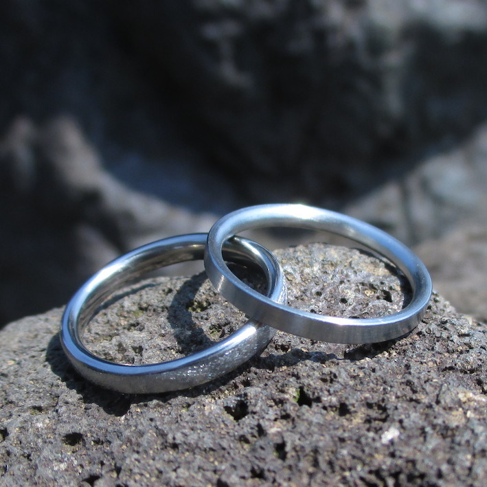 建築家が作るハフニウムの結婚指輪 Hafnium Rings