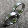 タンタル、チタン、ハフニウムの3色ペアリング Tantalum×Titanium×Hafnium Rings