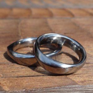 建築家とコラボレーション ハフニウムの結婚指輪 Hafnium Rings